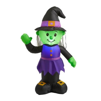 3.5 ft. Green and Purple Witch Halloween Inflatable