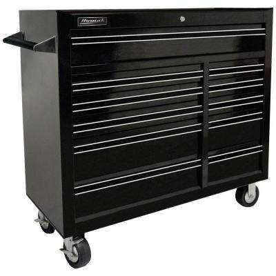 Professional 41 in. 11-Drawer Rolling Cabinet, Black