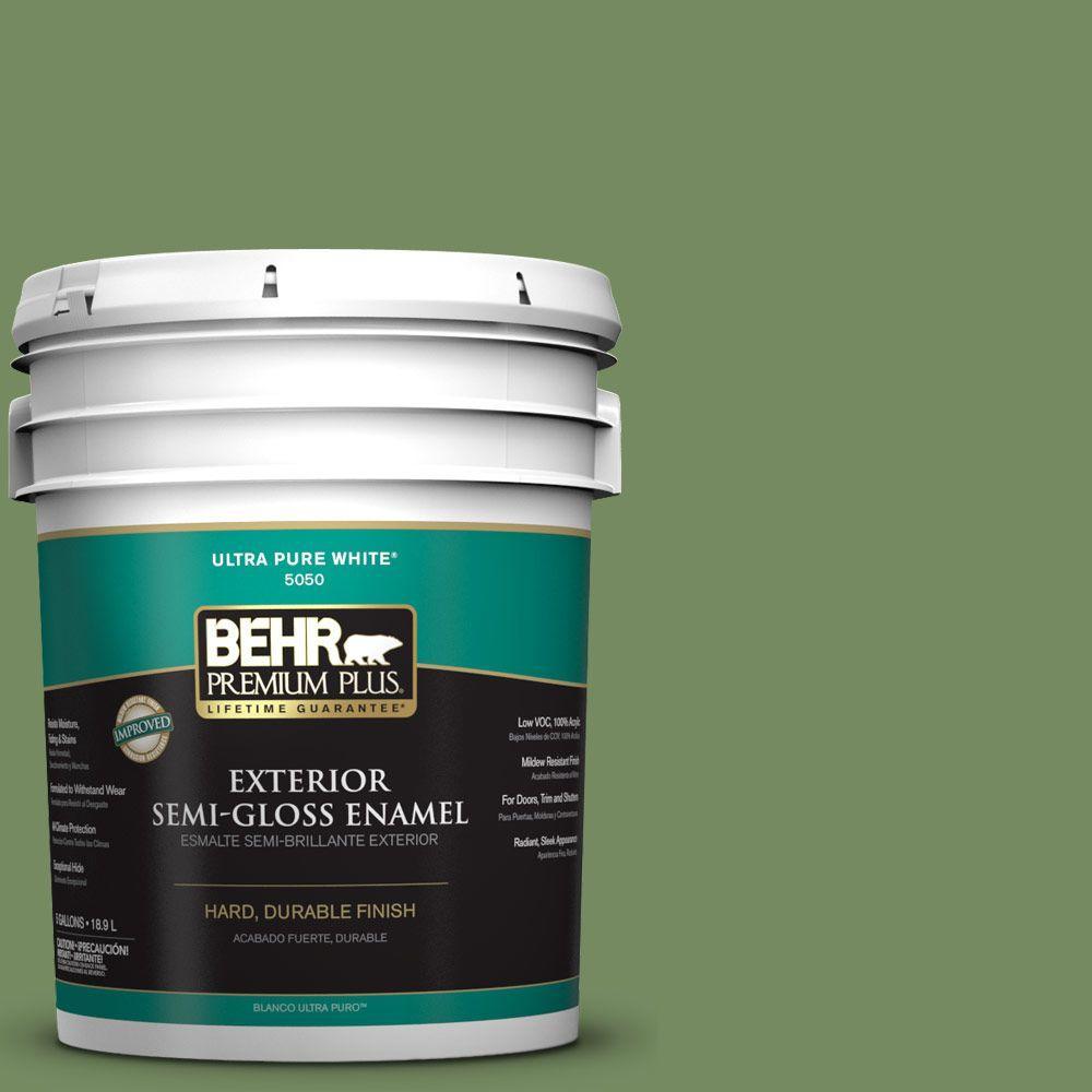 5-gal. #M380-6 Fern Canopy Semi-Gloss Enamel Exterior Paint