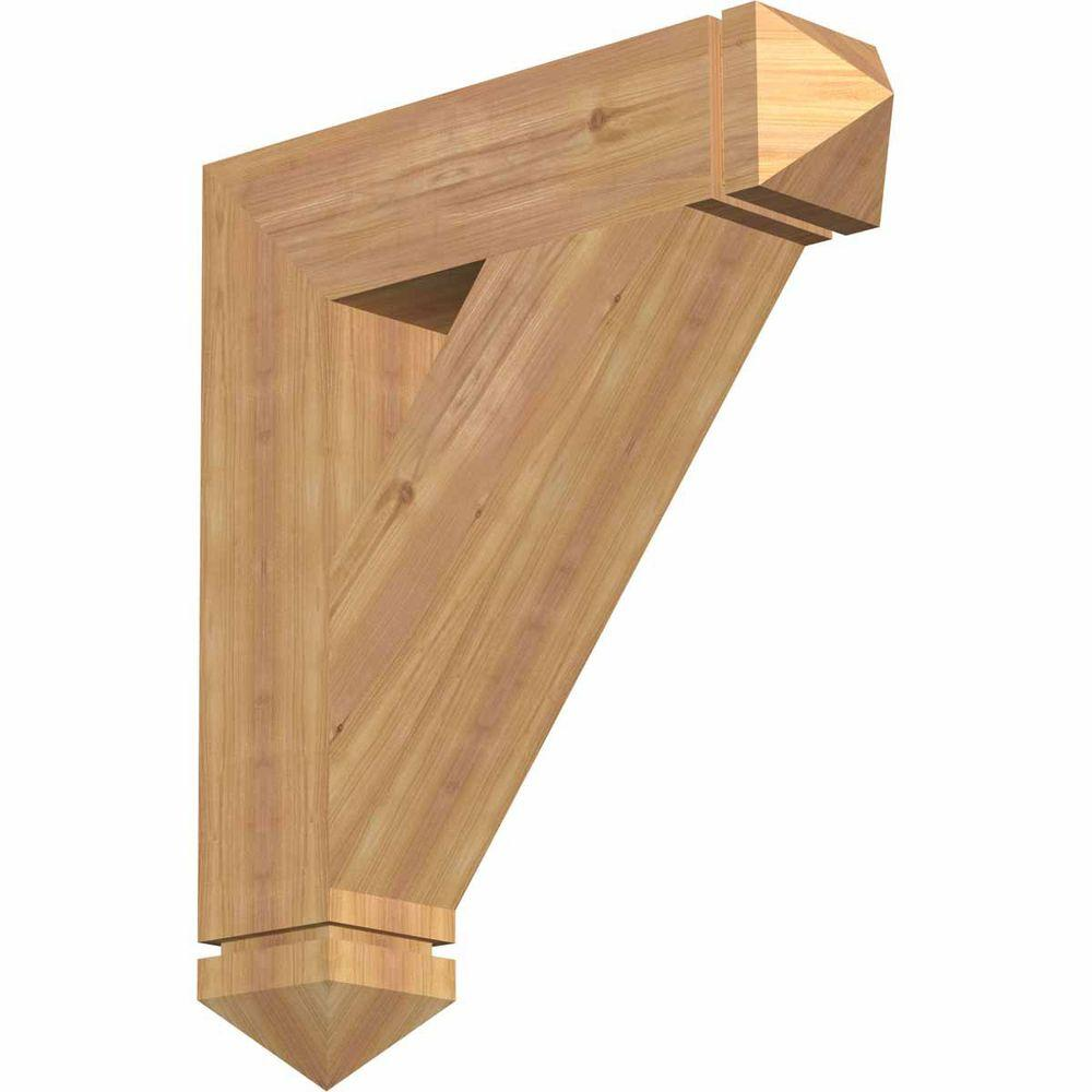 Ekena Millwork 5.5 in. x 30 in. x 26 in. Western Red Cedar Traditional Arts and Crafts Smooth Bracket