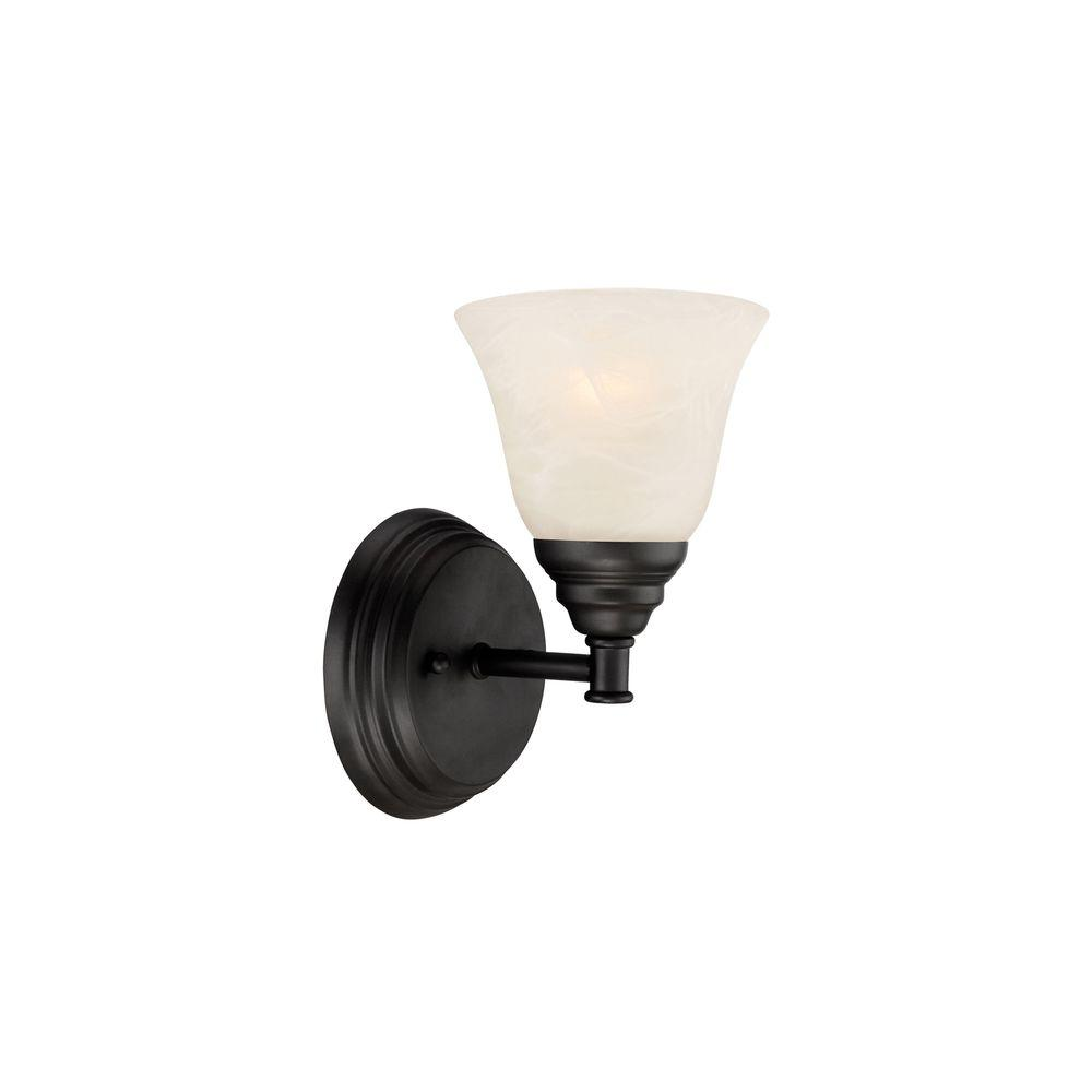Designers Fountain Kendall 1 Light Oil Rubbed Bronze Wall Sconce 85101 Orb The Home Depot