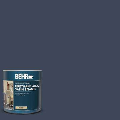 1 qt. #M500-7 Very Navy Satin Enamel Urethane Alkyd Interior/Exterior Paint
