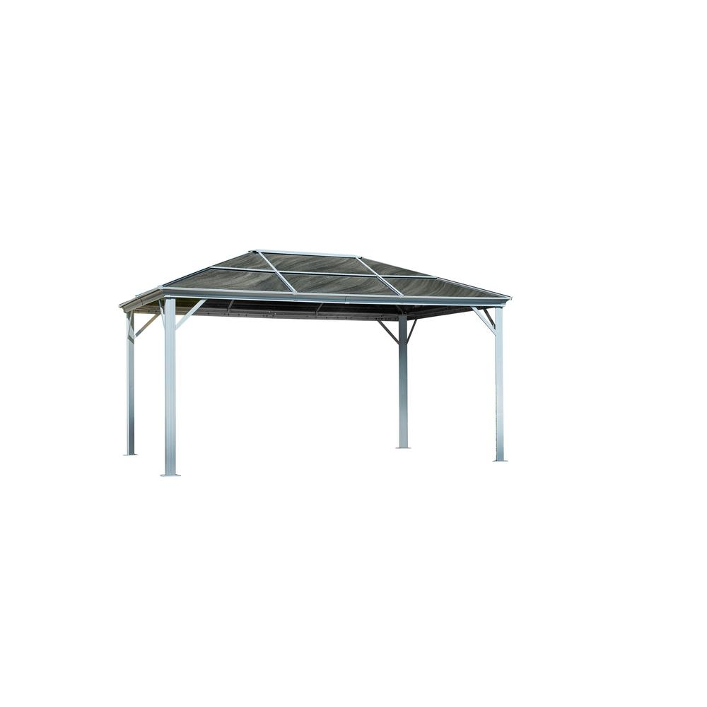 Marseille 10 ft. x 14 ft. x 8 ft. 7 Aluminum All-Season Gazebo