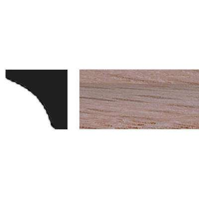 3/8 in. x 3/8 in. x 48 in. Red Oak Cove Moulding