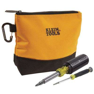 2-Piece Multi-Bit Screwdriver Set with Tool-Bag