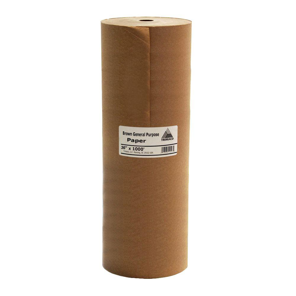 TRIMACO Easy Mask 36 IN. X 1000 FT. Brown General Purpose Masking Paper