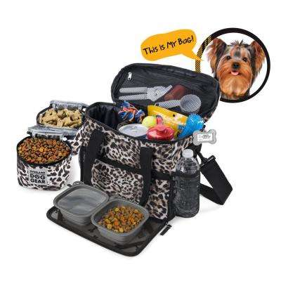 Week Away for Small Dogs Polyester Accessory Bag in an Animal Print