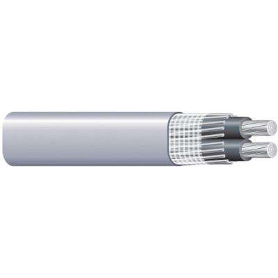 (By-the-Foot) 6-6-6 Gray Stranded AL SEU Cable