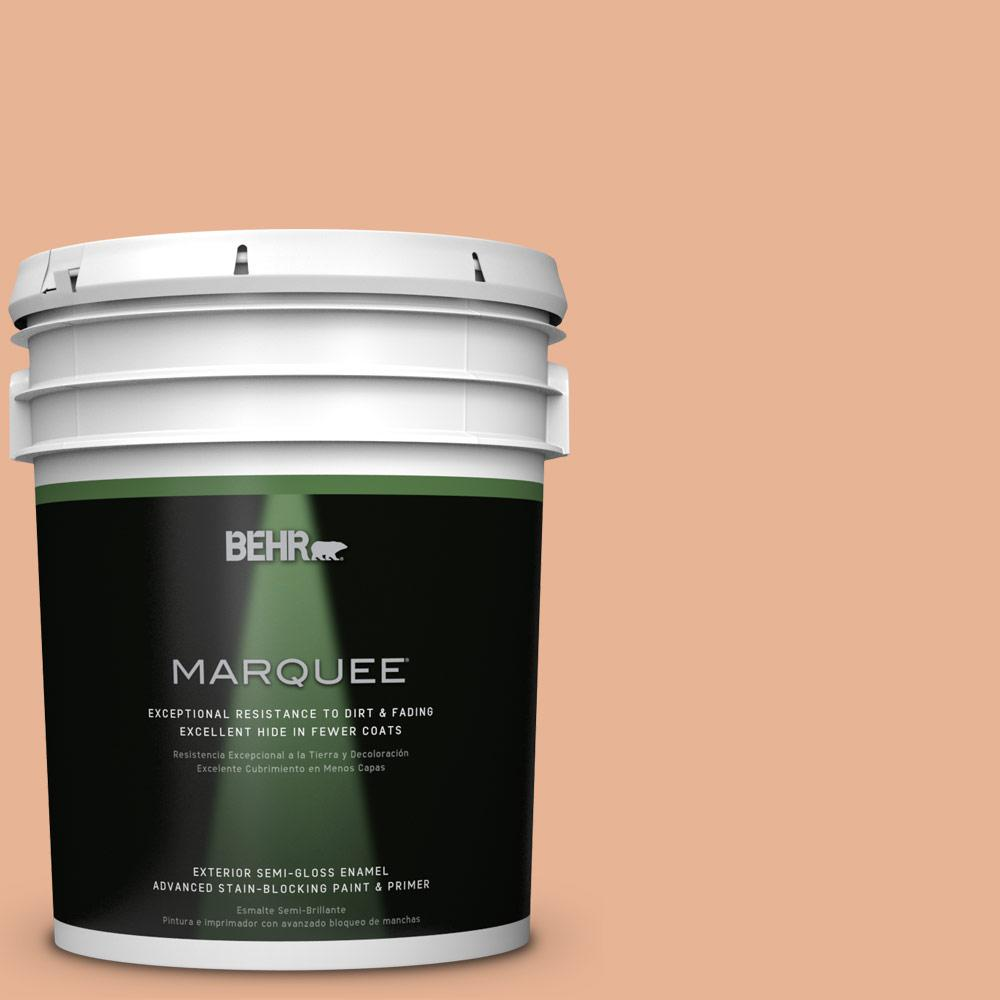 5-gal. #M210-4 Peach Shortcake Semi-Gloss Enamel Exterior Paint