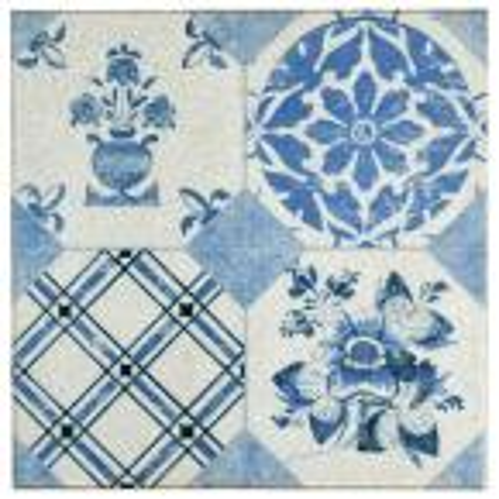 Klinker Retro Azul Mix 9-5/8 in. x 9-5/8 in. Ceramic Floor and Wall Quarry Tile