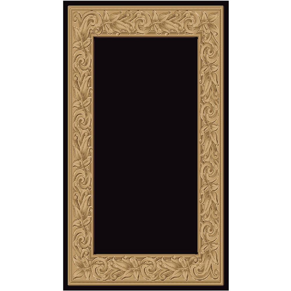 Elegant Embrace Black 2 ft. x 3 ft. 5 in. Accent Rug