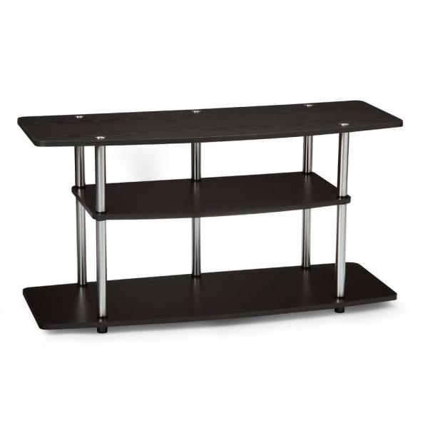 Designs2Go 42 in. Espresso Wood Grain Particle Board TV Stand 42 in. with Cable Management