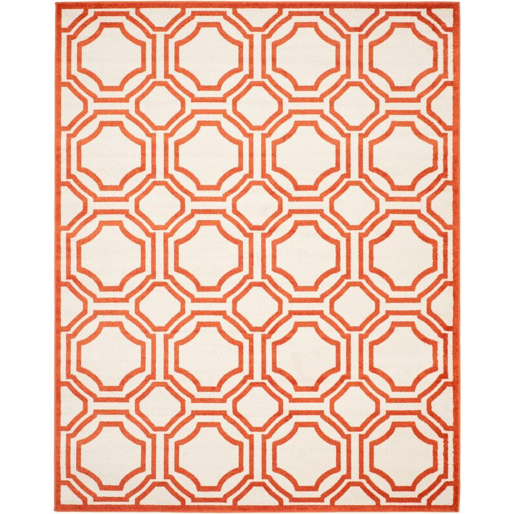 Safavieh Amherst Ivory Orange 8 Ft X 10 Ft Indoor
