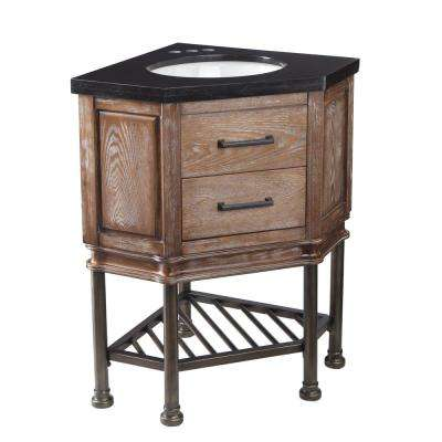 Rustic Corner Bathroom Vanity. D Corner Bath Vanity in Burnt Oak Rustic  Bathroom Vanities The Home Depot