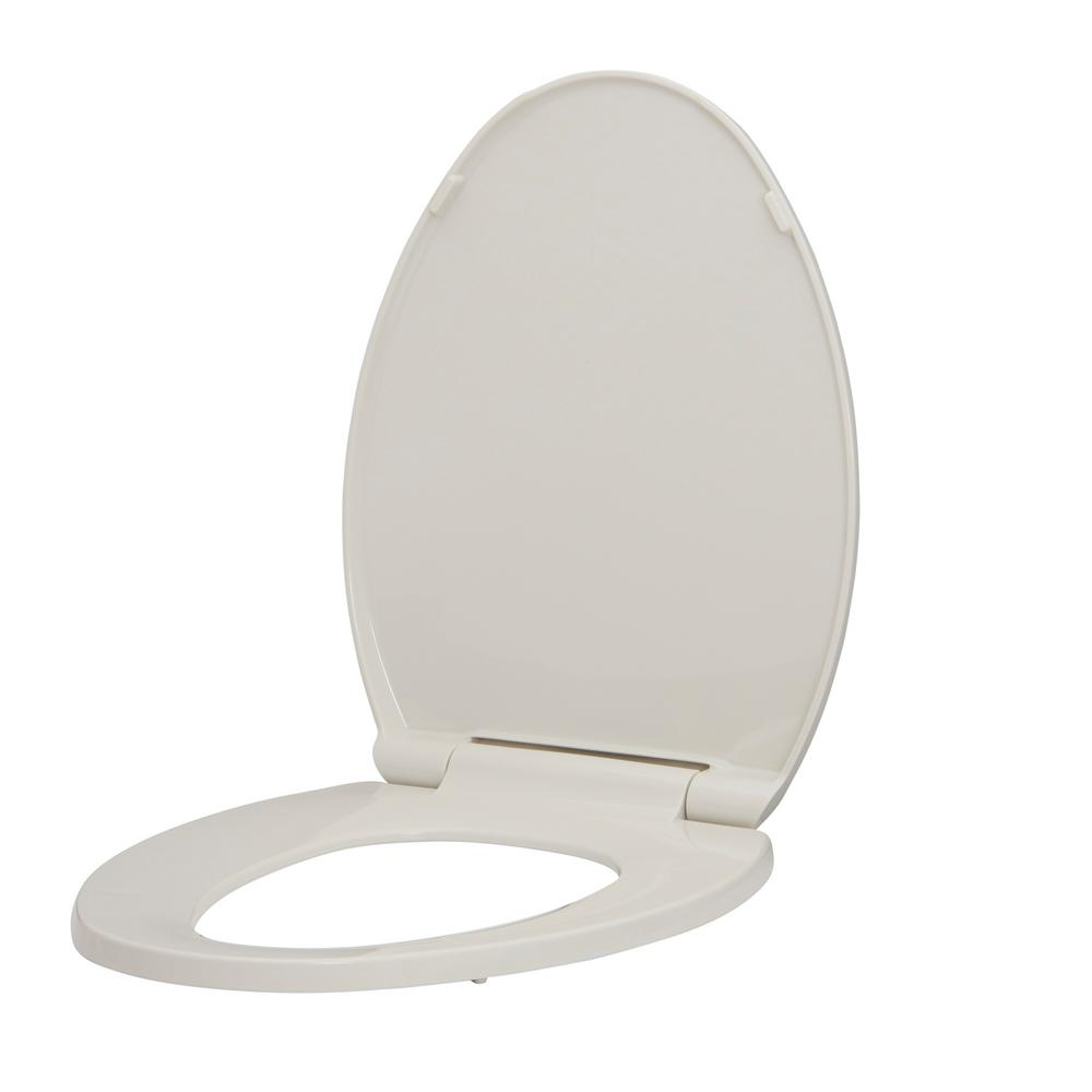 Fantastic Glacier Bay Elongated Slow Closed Front Toilet Seat With Quick Release Hinges In Biscuit Squirreltailoven Fun Painted Chair Ideas Images Squirreltailovenorg