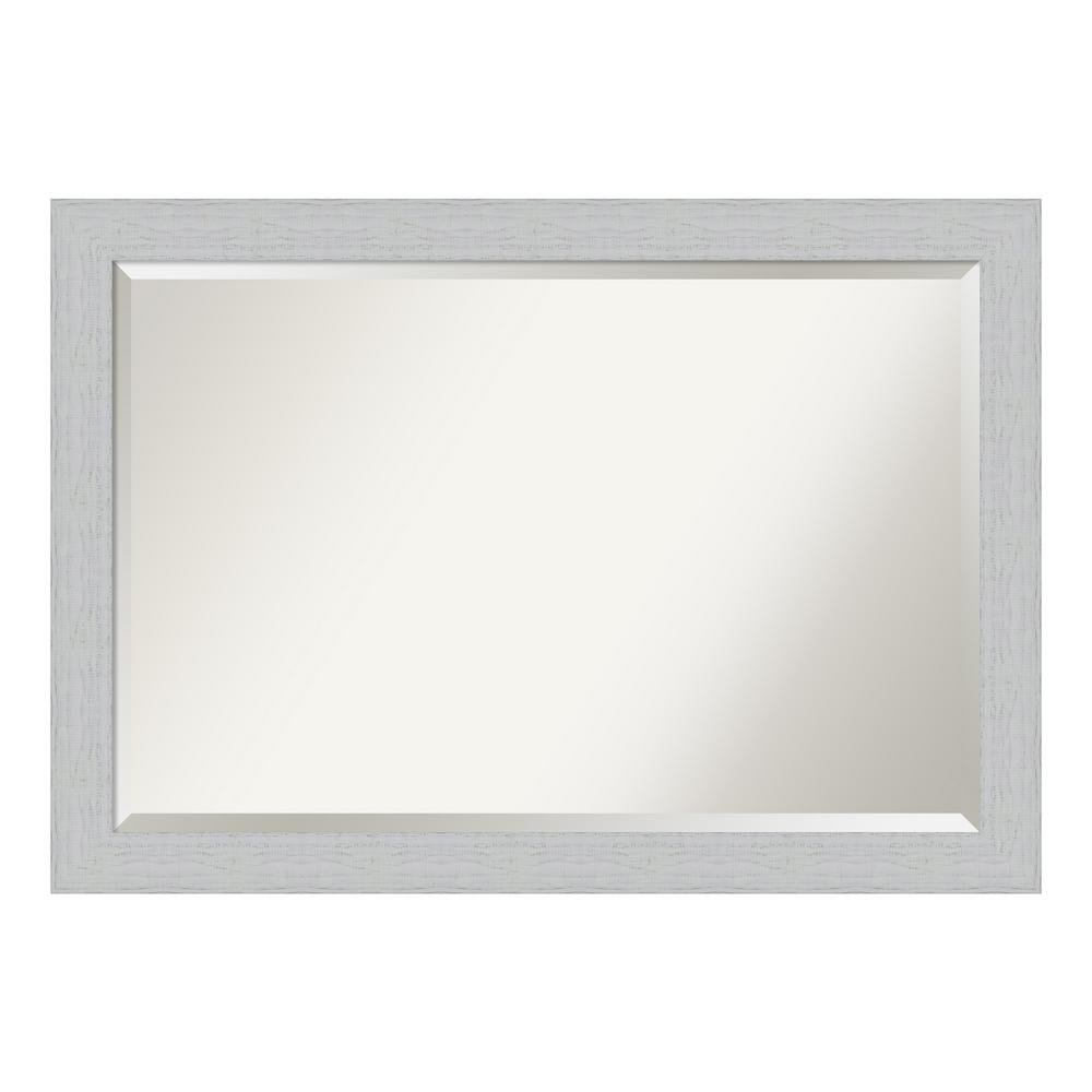 Shiplap Bathroom Vanity: Amanti Art Shiplap White Bathroom Vanity Mirror-DSW4093657