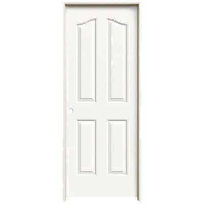 32 In. X 80 In. Provincial White Painted Right Hand Smooth Molded Composite