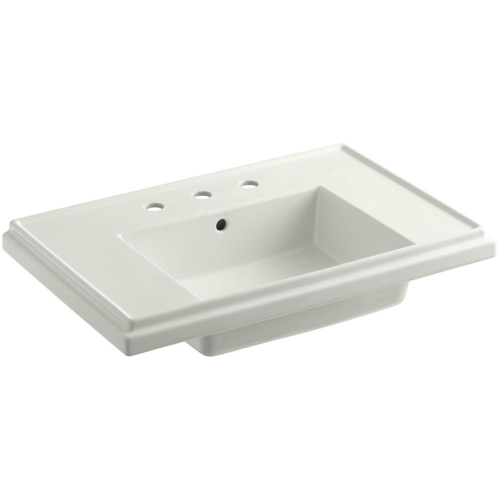 KOHLER Tresham 30 in. Pedestal Sink Basin in Dune