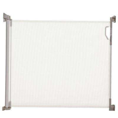 34 in. H x 55 in. W White Retractable Indoor/Outdoor Safety Gate
