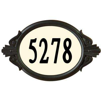 Roman Oval Black Do-It-Yourself Address Plaque Kit
