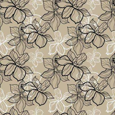 18.2 in. x 36.4 in. Floral Pattern Peel and Stick Foam Tile Wall Decal