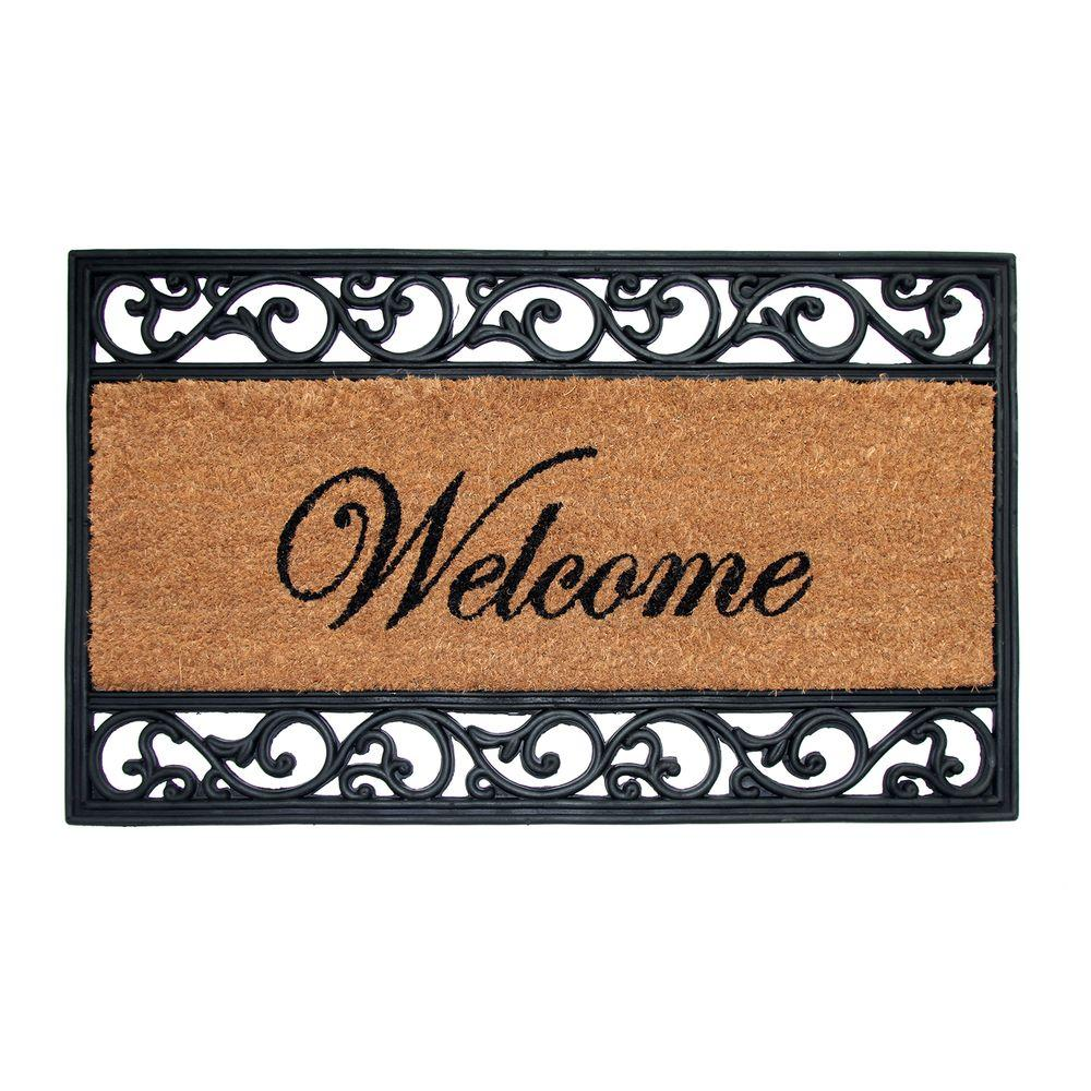 Trafficmaster Welcome 18 In X 30 In Coir And Rubber Door