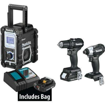 18-Volt 3-Piece 2.0Ah LXT Lithium-Ion Sub-Compact Brushless Cordless Combo Kit Driver-Drill/ Impact Driver/ Radio