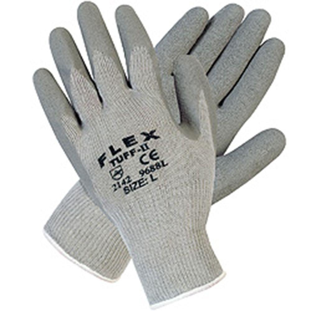 MSA Safety Works Flex Tuff II Latex Dipped Knit/Cotton Blend Medium Gloves-DISCONTINUED