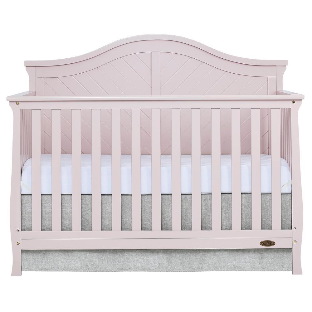 Kaylin Blush Pink 5 in 1 Convertible Crib