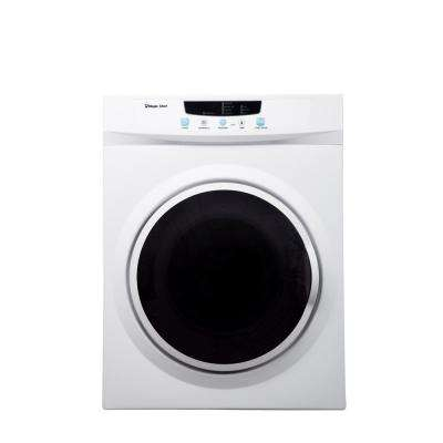 Compact 3.5 cu. ft. Electric Dryer in White