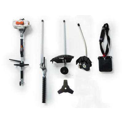 2-Cycle 26cc Gas Full Crank Shaft 4-in-1 Multi-Function String Trimmer