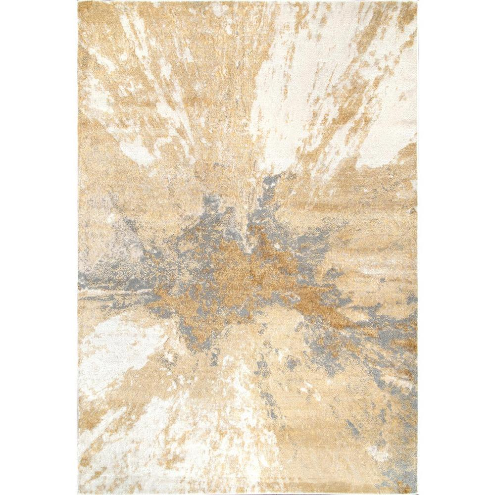 nuLOOM Cyn Modern Abstract Gold 8 ft. x 10 ft. Area Rug