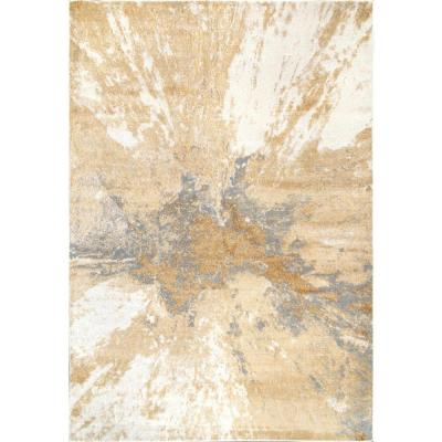 Cyn Modern Abstract Gold 8 ft. 10 in. x 12 ft. Area Rug