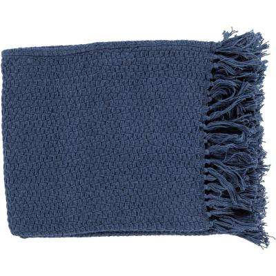 Sandford Navy Cotton Throw