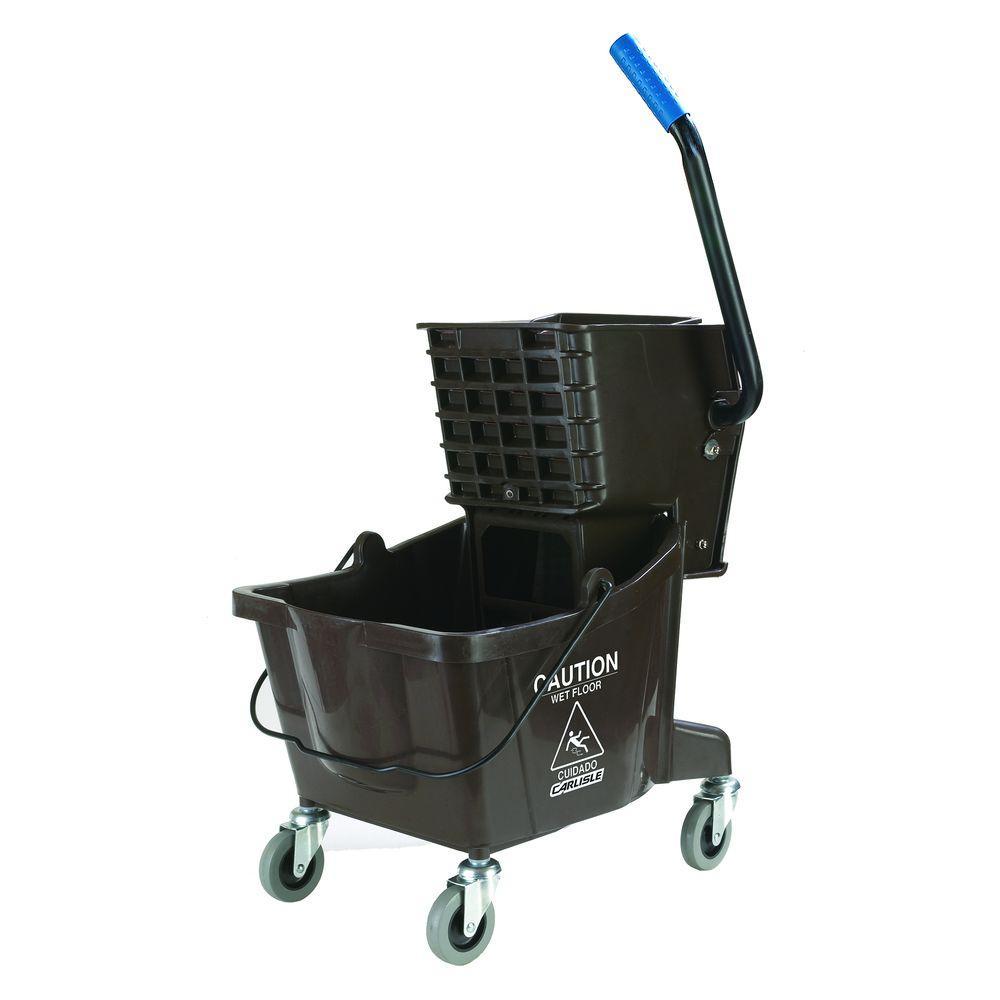 26 qt. Brown Mop Bucket/Wringer Combo