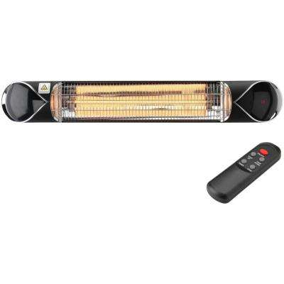 35.4 in. 1500-Watt Infrared Electric Patio Heater with Remote Control in Black