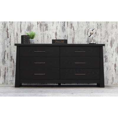 Fusion 6-Drawer Ebony Dresser