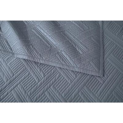 Binghamton 3-Piece Shadow Gray Solid Cotton Quilt Set