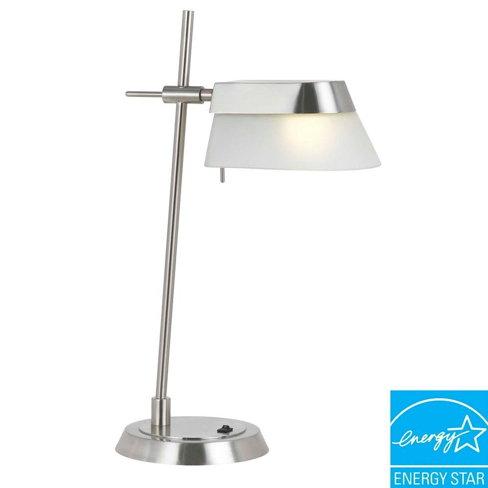 CAL Lighting Alisso Metal Desk Lamp with Glass Shade-DISCONTINUED