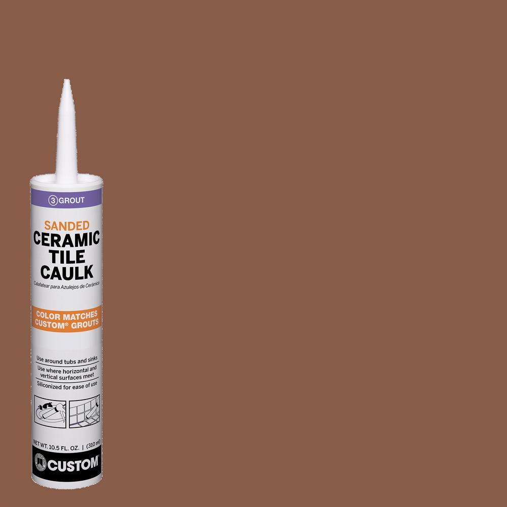 Custom Building Products Polyblend #50 Nutmeg Brown 10.5 oz. Sanded Ceramic Tile Caulk