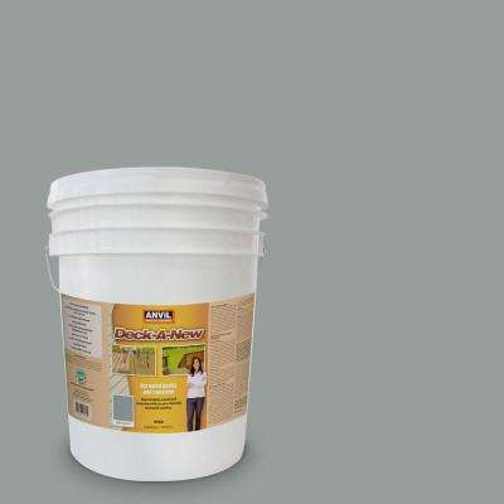 Deck-A-New 5 gal. Driftwood Rejuvenates Wood and Concrete Decks Premium Textured Resurfacer
