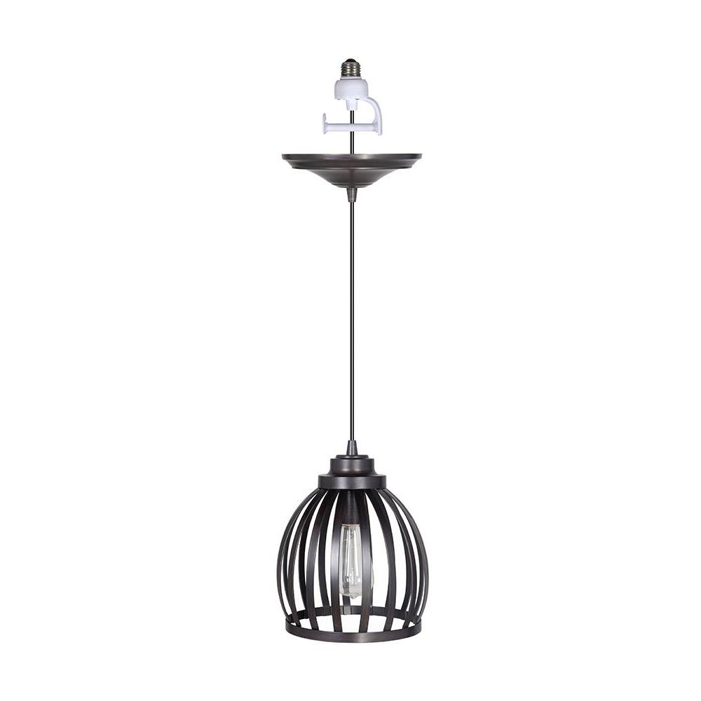 Home Decorators Collection Maria 1-Light Brushed Bronze Pendant with Conversion Kit was $125.44 now $31.42 (75.0% off)