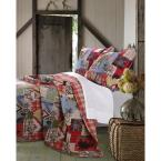 Greenland Home Fashions Rustic Lodge 3-Piece Multi Full and Queen Quilt Set