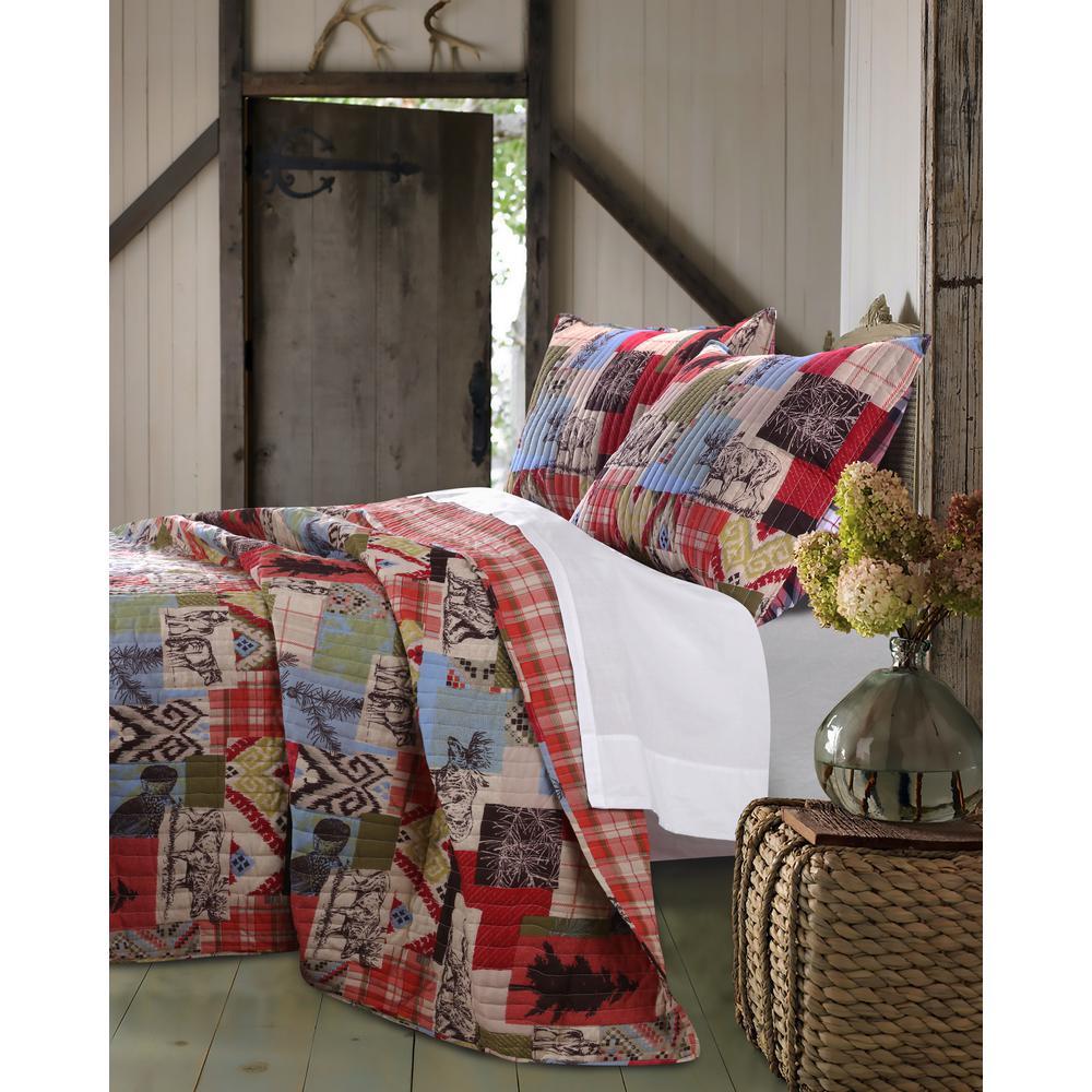 Rustic Lodge 3-Piece Multi King Quilt Set