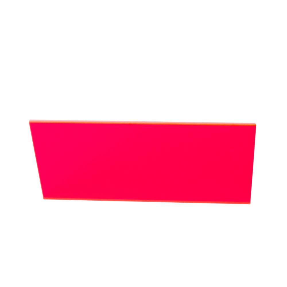 36 in. x 36 in. x 1/8 in. Thick Acrylic Fluorescent Red 9095 Sheet