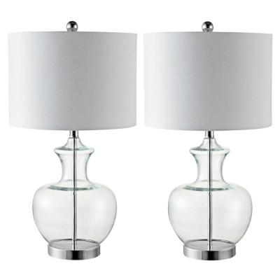 Bilsor 25 in. Clear/Chrome Table Lamp