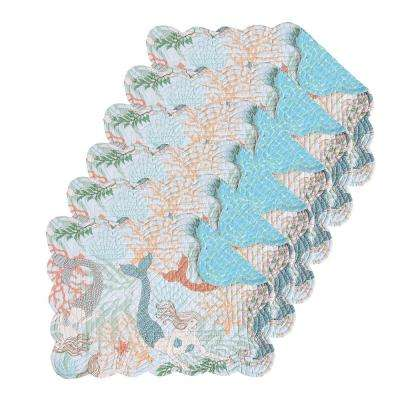 Dancing Waters Aqua Placemat (Set of 6)