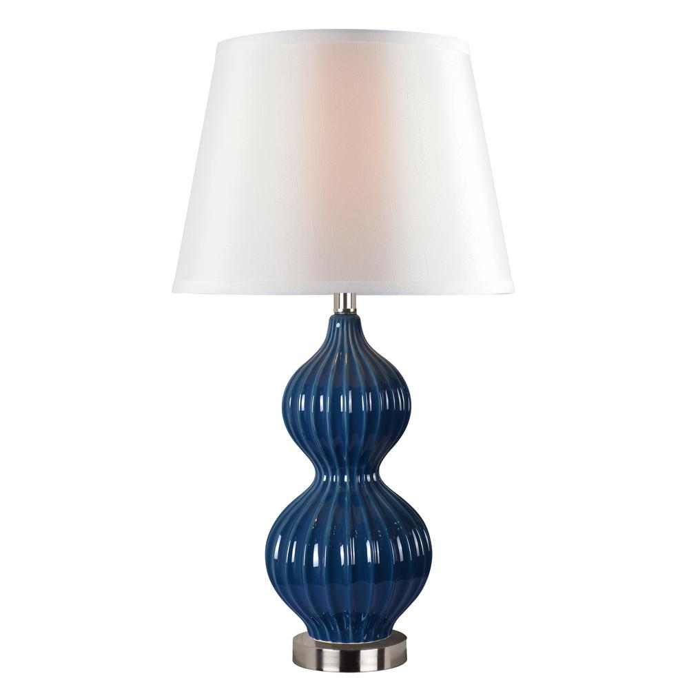 navy table lamp gourd navy table lamp kenroy home thomas 2750 in lamp32900navy the depot