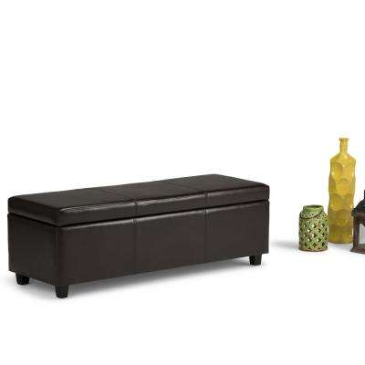 Avalon Tanners Brown Storage Bench