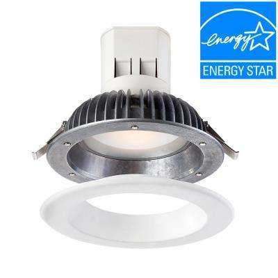 Easy Up 6 in. Warm White LED High Ceiling Recessed Light with 93 CRI, 3000K J-Box (No Can Needed)
